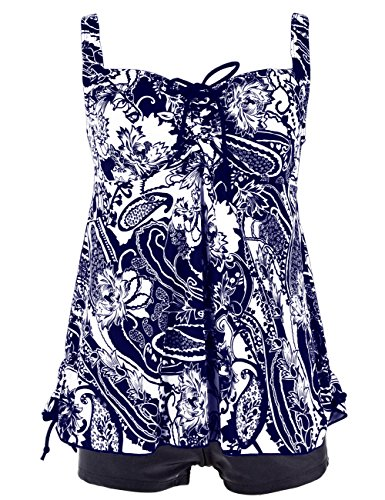 Hilor Women S Plus Size Swimwear Floral Tankini Set