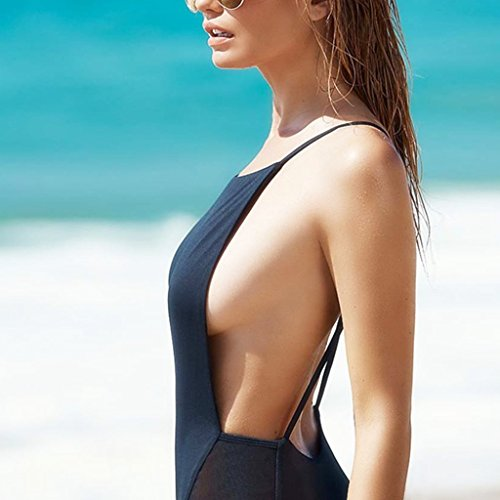 Sexy girl in one piece swimsuit